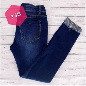 3/15 Encore Distressed Ankle Cuffed Slim Fit Jeans